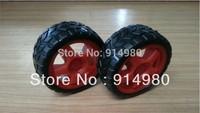 NEW LR wheel, intelligent vehicle, robot, TT geared motor wheels, chassis wheels drift preferred ,TT Gear motor Red and yellow