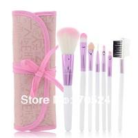 New 2014 Portable Makeup Tools 7pcs Classical Practice Makeup Brushes Set, Pink Makeup Brush with Makeup Brushes Case