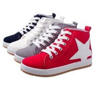Free shipping 2013 autumn women's shoes canvas shoes single shoes wear-resistant rubber shoes fashion high platform