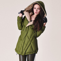 New 2013 autumn winter down & parka thick coat  high quality loose plus big size