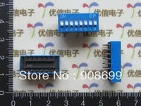 FREE EXPRESS SHIPPING, 2000PCS DIP Switch 8P toggle switch 2.54mm spacing, flat dial switch, BLUE COLOR
