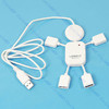 Cute USB 2.0 High-Speed 4 Port HUB Man Adapter Laptop+Free Shipping