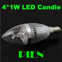 Flameless led Candles light E14 E27 3W 4W 5W dimmable spotlight bulb Crystal Lamp Replacing 35W 110V-220V FreeShipping 4pcs/lot