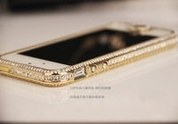 Luxury Swarovski diamond bumper for iphone 5 Retail with HOME button for iphone 5 5g  ,2pcs/lot Free shipping