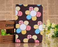 High Quality Korea Cute Retro Sunflower Flip Thin Stand Leather Kids Cases Smart Cover For Apple Mini ipad 2 3 4 ipad 5 Air Bags