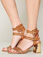 Free shipping Women's shoes fashion dv dolce vita cowhide metal thick heel sandals