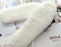 Hot Selling Warm Shoes Pad Pure Wool Insole Fur One Piece Insole Snow Boots Insole 2 Double Free Shipping