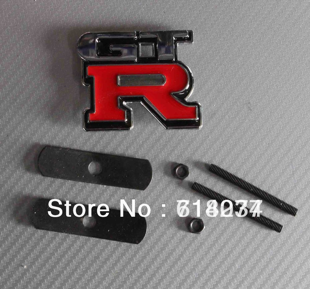 Free shipping Car Front Grille Badge GRILL Emblem Refit modification Nissan GTR motorbike parts fashion style(China (Mainland))