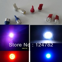 Free shiping 10x White T10 194 168 high power Car LED light Bulbs 1W