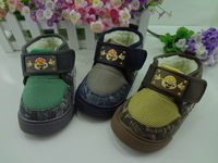 2012 23 slip-resistant outsole infant soft cotton-padded shoes child snow boots warm shoes children shoes