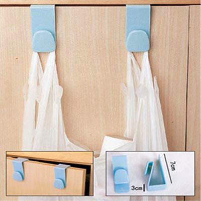 5x 2 pcs Convenient kitchen hook seamless door drawer bathroom plastic hook wholesale(China (Mainland))