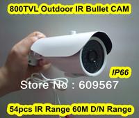 Must Buy 800TVL Outdoor IR Bullet Camera ,54pcs IR leds 60M Day/Night Range with IR-cut