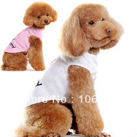 Pet Dog Cotton Clothes Love Heart Vest Summer Apparel Costume Shirt S/M/L/XL/XXL LX0081 Free shipping&DropShipping