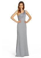 A-Line Floor-Length Chiffon Bridesmaid Dress With Ruching  HWGJBD3