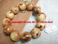 Tibetan prayer beads bracelet high cliff cedar Thuja oil floral with burl wood bracelets H782 20mm shadow