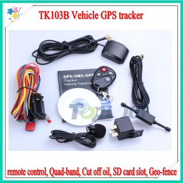 TK103B Vehicle GPS tracker Remote Control Portoguese Manual SD card GPS 103 crawler PC&web-based GPS racking system fedex free(China (Mainland))