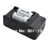 High quality TangsFire 2Pcs 16340 1000mAh 3.7V Rechargeable Batteries with PCB Protected + 16340 Plus Charger