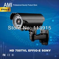 Free shipping, 2013 Newest New!700TVL Effio-e Sony CCTV Varifocal lens Outdoor camera 4--9mm lens IR Camera,long ir distance 50m