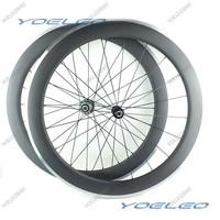U Shape 25mm Wide Carbon Alloy Wheels 60mm 700C Clincher Carbon Wheelset Aluminum Brake Track Novatec Hubs 291/482 CN Spokes