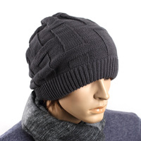 Free Shiping,Winter Fashion Knitted hat male thermal hat for man the trend  knitted hat