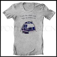 Free shipping SAY R2D2 STAR WARS T-shirt cotton Lycra top Fashion Brand t shirt men new DIY high quality
