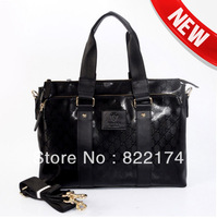 Cowhide men's business briefcase fashion Luxury leather men's Messenger Bags&male cross body computer bag (41)