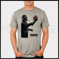 DIY Style empire strikes C3PO DARTH VADER Star Wars T-shirt cotton Lycra top Fashion Brand t shirt men new DIY high quality