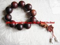 India lobular red sandalwood beads gourmet grain of sandalwood rosary beads 25mm with birthday Dion held pendant H771