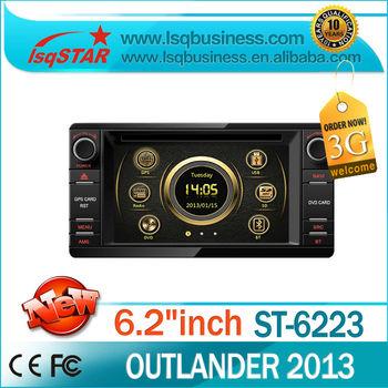 lsqstar autoradio for 2013 mitsubishi outlander wholesale with gps navigation/radio/dvd/3G/bluetooth/phone book/ipod...