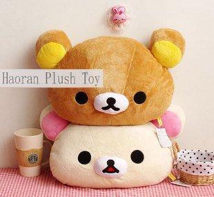 Christmas gift plush toy Rilakkuma plush pillow lover Rilakkuma bear Large pillow plush freeshipping(China (Mainland))