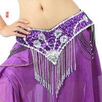 Belly dance cotume belt indian dance belly chain gems cummerbund f002  hip belt wrap scarf