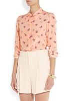 Free Shiping Fashion Print 2013 Fashion Turn-down Collar Long-sleeve Crepe-de-chine Women's Shirt Female Shirt