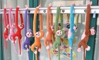 Christmas gift plush toy Christmas monkey Doll gibbo nplush toy Christmas 12pcs/lot freeshipping