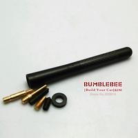 Free Shipping!!NO LOGO alloy antenna,carbon fiber Short Car Aerial Antenna,Universal,12CM (KK206) black