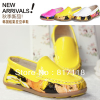 Free shipping, 2013 children loafers ,colorful gommini loafers ,soft leather single shoes,girls dress shoes,girls shoes flats