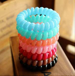 In Stock!Kids Baby Kids tiny Hair accessaries Rainbow Hairtie Hair bands Colorful Ties Ponytail Phone line Hairtie