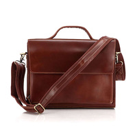 Free shipping by EMS!!2013 high quality handmade 100% Genuine messager bag Cow Leather Men's Red Brown handbag Briefcase 6033X