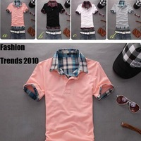 Fashion New Summer Explosion Models Leave Two Men's Short-sleeved T-shirt