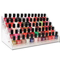 Hold 60 Bottles Nail Polish Display Rack, Acrylic Nail Polish Bottles Holder, Nail Salon Equipment, Table Nail Rack, Free Ship
