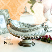 New fashion royal classical quality relievo cup fruit plate storage decoration