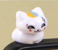 cartoon cat  Earphone Headphone anti Dust plug dust Cap for iphone 4 4s for 3.5mm plug mobile phone accessories
