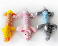 Pet toy dog teeth stripe animal plush sound toys dog plush toy