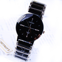 Fashion rhinestone exquisite gift male watch commercial table ceramic watch high quality watch