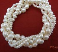Free shipping different sizes Pearl Bracelet  Elastic gift for friends freshwater pearl bracelet