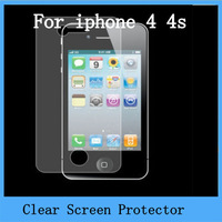 10pcs/lots clear screen protector iPhone 4 4S Clear Ccreen Protective Film Screen Guard for Iphone 4/4s Wholesale