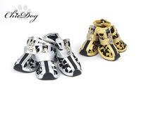 Gold zebra print dog shoes teddy vip bo shoes pet shoes dog shoes
