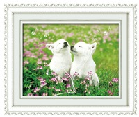 Freeshipping decorative animal dog cross stitch embroidery kits cross