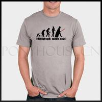 DIY Style EVOLUTION DARK SIDE  Star Wars 6688 T-shirt cotton Lycra top Fashion Brand t shirt men new DIY high quality