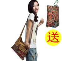 Canvas fabric women's handbag 2013 women's handbag casual bag canvas cross-body canvas female bag one shoulder