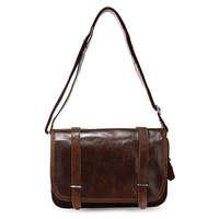 Free shipping by EMS!!2013 handmade Vintage Tan Leather Chocolate Shoulderbag Handbag Messenger Bag purse 3118C